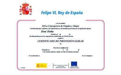 Certificado Oficial Docencia