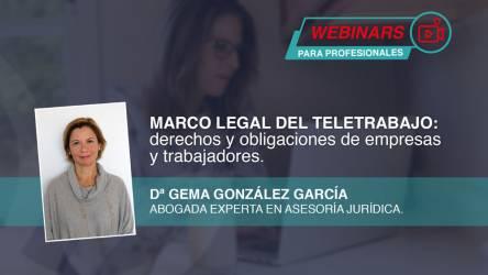 Webinar en diferido: Marco legal del teletrabajo. Derechos y...
