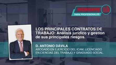 Webinar: Los principales contratos de trabajo. Análisis jurídico...