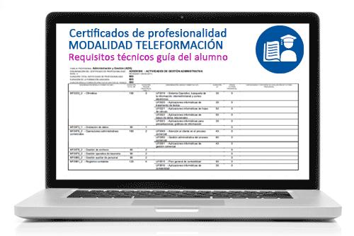 Requisitos del alumno de certificados de profesionalidad