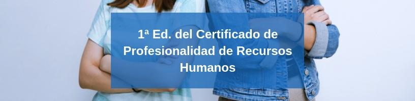 curso Certificado de profesionalidad en Recursos Humanos