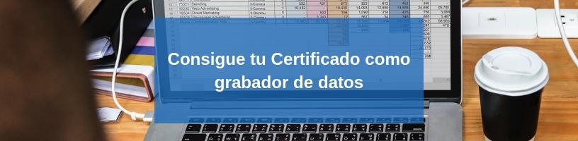 curso certificado grabador de datos