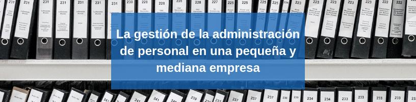 Gestión administrativa PYME