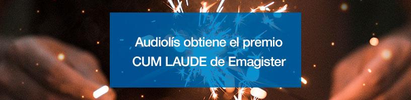 Audiolís obtiene el premio CUM LAUDE de Emagister