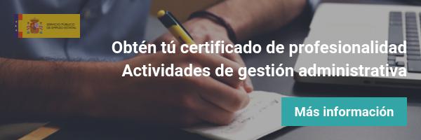 Certificado profesionalidad administración