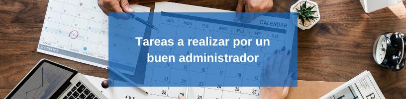 Cuales son las funciones de un administrador
