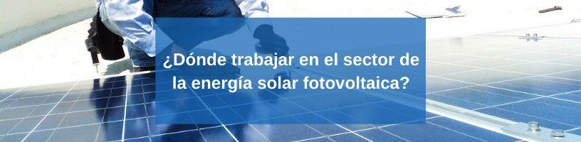 ¿Dónde trabajar en el sector de la energía solar fotovoltaica?