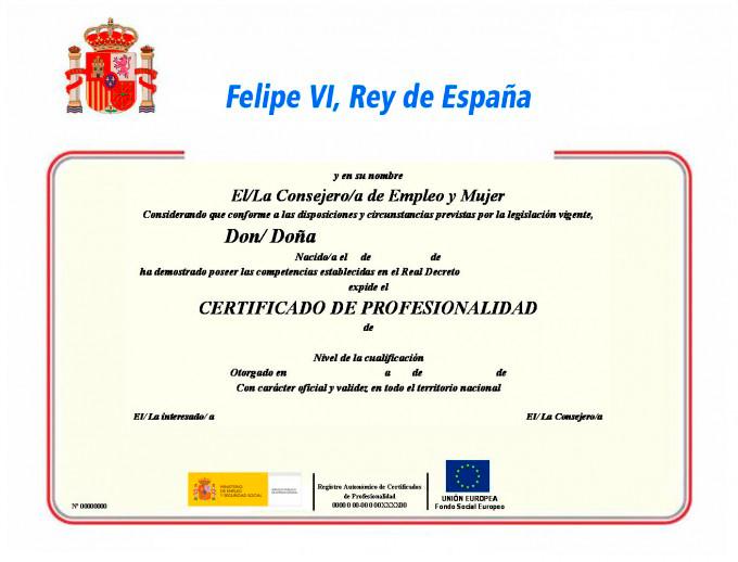 curso certificado profesionalidad diploma