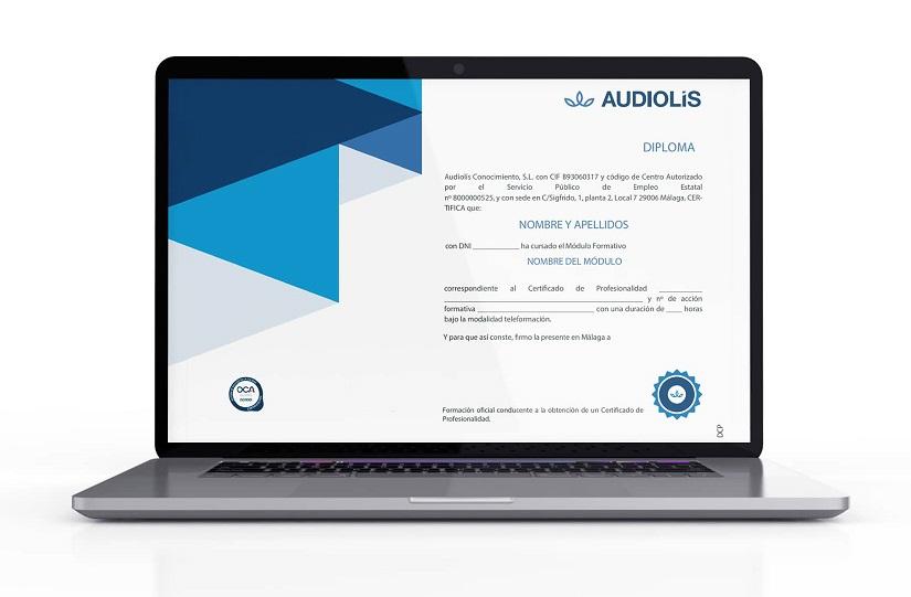 Diploma de certificado de profesionalidad de Audiolís