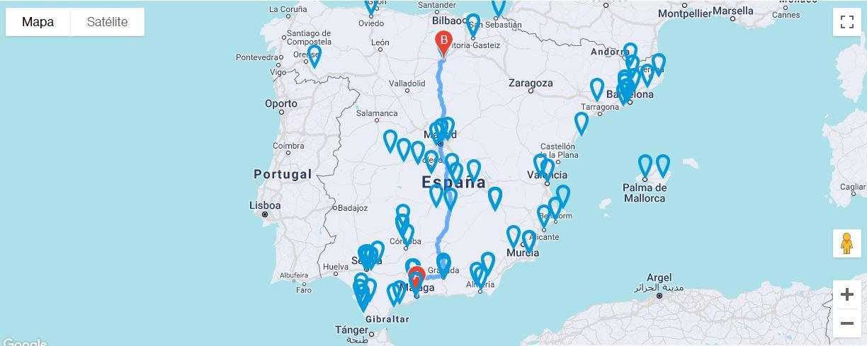 Mapa de centros presenciales acreditados de Audiolís