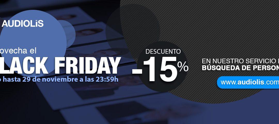 15% de descuento en tu selección de personal: llega el Black Friday de Audiolís