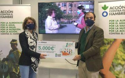 Audiolís entrega 5.000 € a Acción Contra el Hambre para familias afectadas por la COVID-19